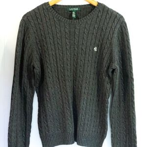 Ralph Lauren Cable Knit Crew Neck Sweater NEW